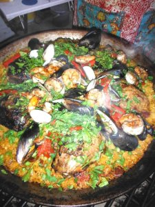 Finished Paella on the Grill