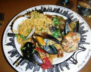 Paella on the Plate