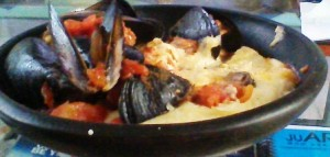 Mussels with Polenta